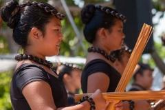 Lā 'Ulu - Hālau Kauluokalā with pūʻili