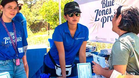Blue Zones cooking demo booth